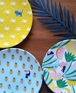 Assiettes Jungle Bandjo x3