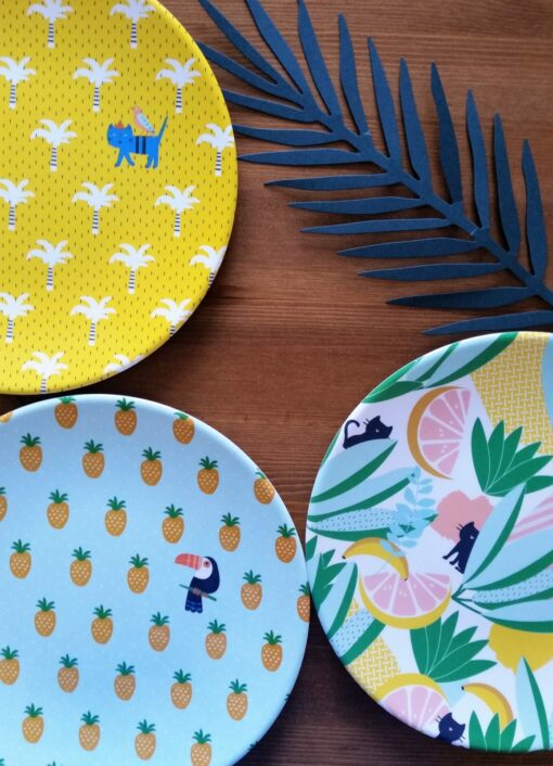 Assiettes mélamine Jungle x3