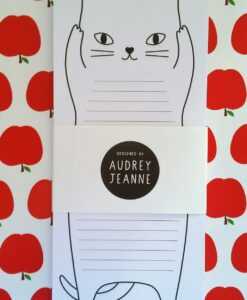Carnet Audrey Jeanne Bloc-notes Chat debout