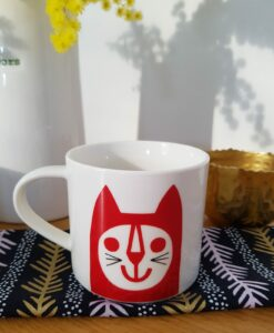 mug red cat jane foster chat pastelshop