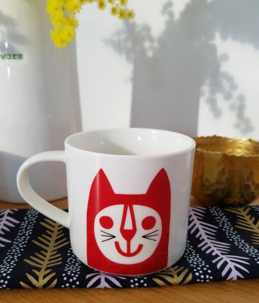 Mug Red Cat Jane Foster