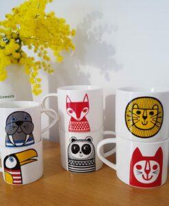 mugs jane foster retro animals pastelshopfr