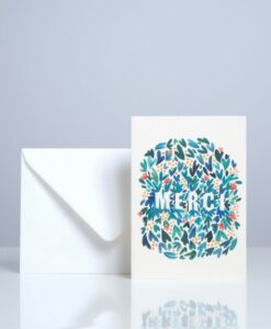 Carte Season Paper Feuillages Merci