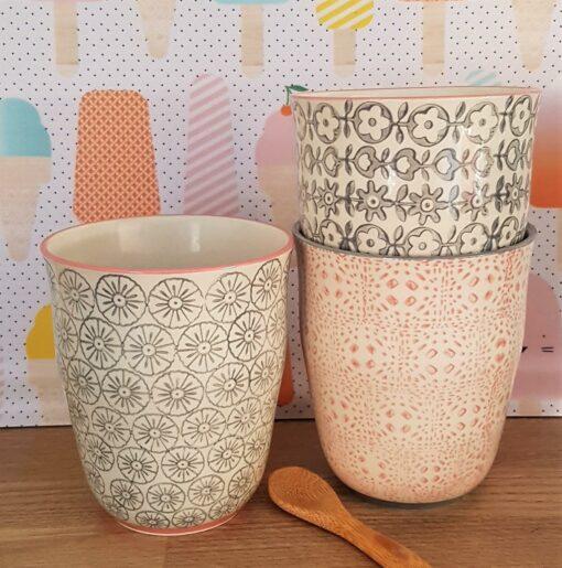 Mugs Bloomingville Cécile x3
