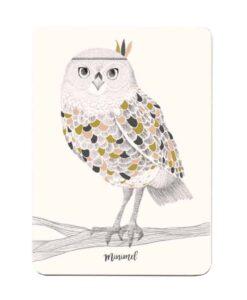 Carte postale Chouette Minimel