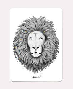 Carte postale Lion Minimel