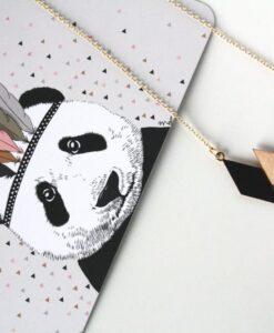 Carte Postale Panda & Confettis Minimel