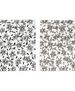 Torchons Bloomingville Fleurs Noires x2