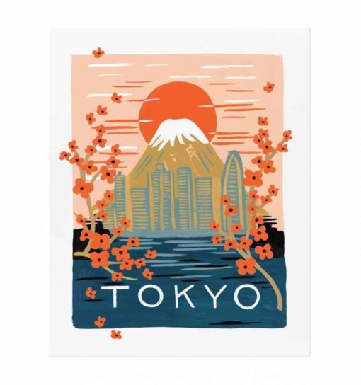 Affiche Rifle Paper Co Tokyo
