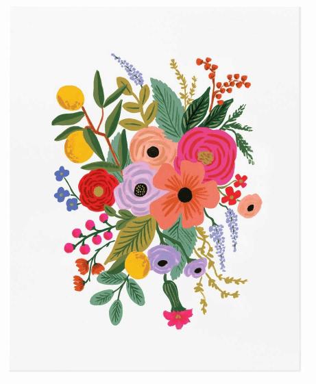 Affiche Rifle Paper Co Garden Party / 2 formats au choix