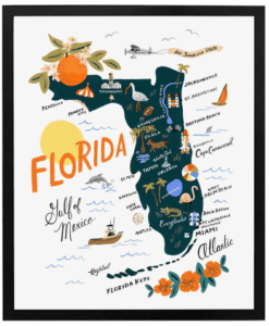 Affiche Rifle Paper Co Floride