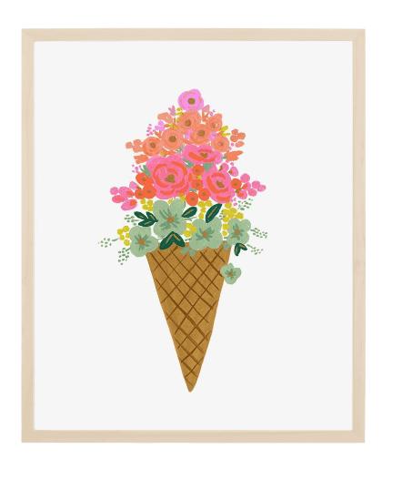 Affiche Rifle Paper Co Ice-cream