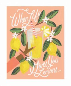 Affiche Rifle Paper Co Lemons to Lemonade