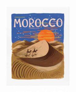 Affiche Rifle Paper Co Maroc