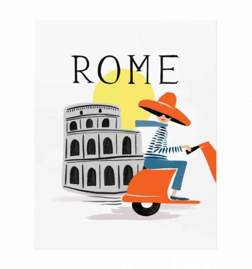 Affiche Rifle Paper Co Bon voyage Rome