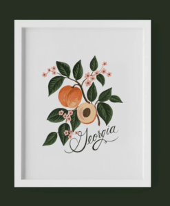 Affiche Rifle Paper Co Georgia Peach