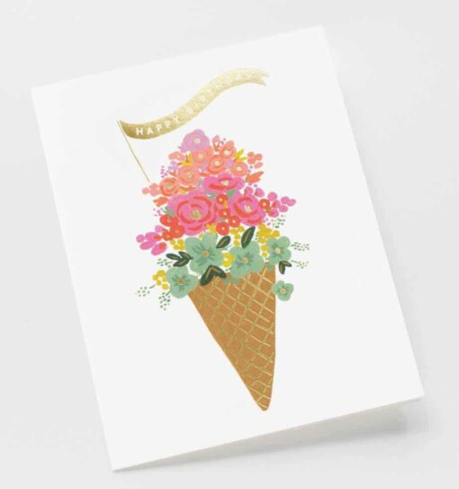 Carte anniversaire Rifle Paper Co Ice-cream