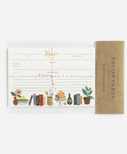 Fiches recettes Rifle Paper Co Kitchen (set de 12)