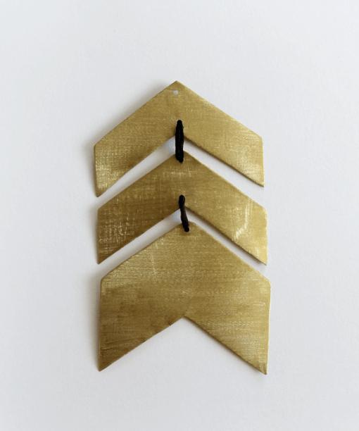 Flèche dorée laiton