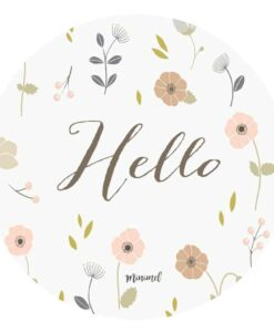 Stickers Hello Minimel lot de 8
