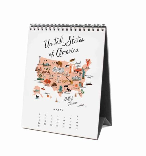 Calendrier Rifle Paper Co Maps of the World 2019