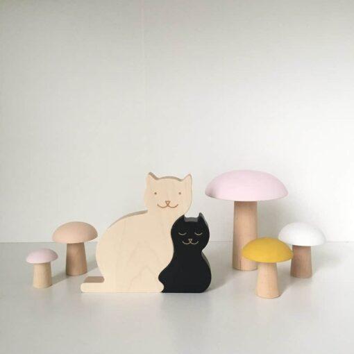 Figurines chat Noir Briki Vroom Vroom