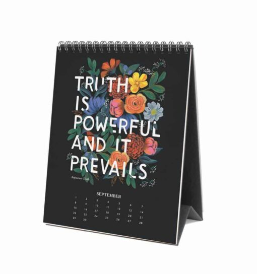 Calendrier Rifle Paper Co 2019 Inspirational Quote