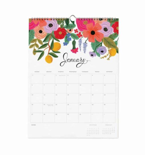 Calendrier 2019 Rifle Paper Co Bouquet