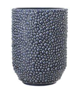 Vase Bloomingville relief bleu