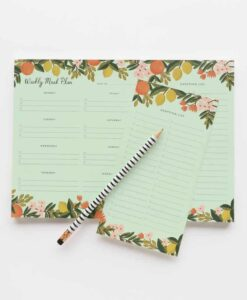 Planificateur de repas Rifle Paper Co Citrus floral