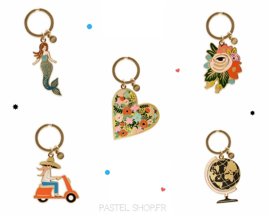 porte clefs rifle paper co