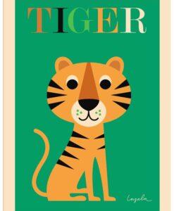 Affiche Tigre Ingela P. Arrhenius – Omm Design