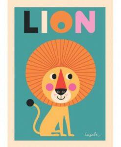 Affiche Lion Ingela P Arrhenius / OMM Design