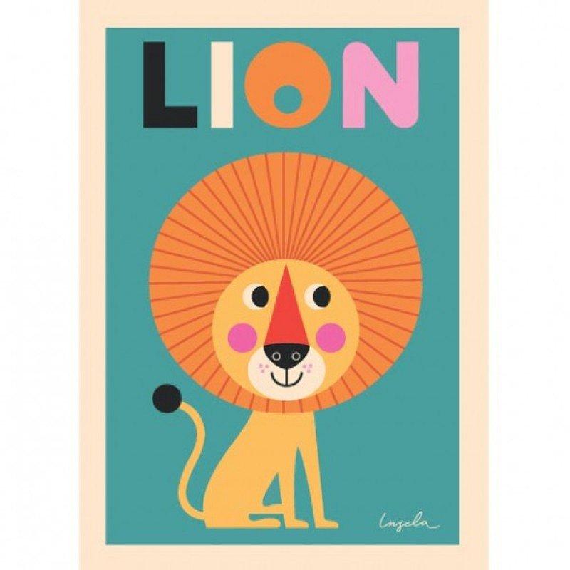 Affiche Lion Ingela P Arrhenius
