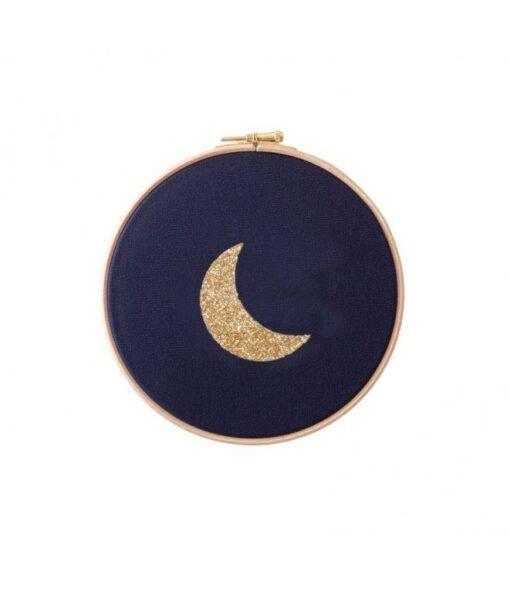 Cadre Lune Navy Et Doré Silly Billy 10 cm