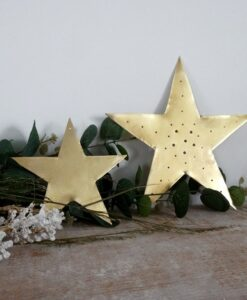 Grande étoile dorée perforée Delphine Plisson