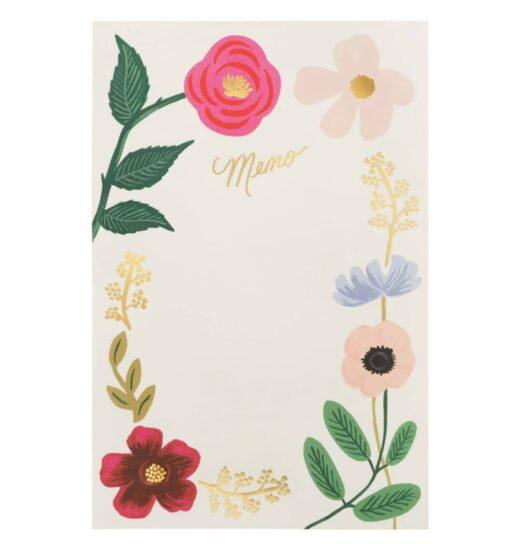 Bloc-notes Rifle Paper Co Fleurs sauvages