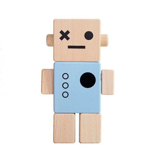 Robot bois Briki Vroom Vroom bleu