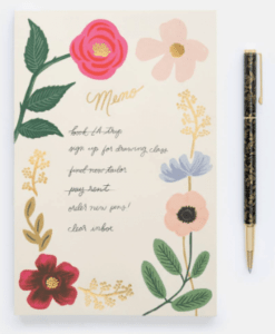 Stylo Queen Anne Rifle Paper Co mine rechargeable