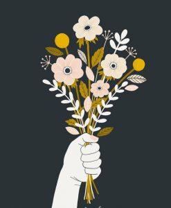 Affiche fleurs Minimel L'amour vaincra