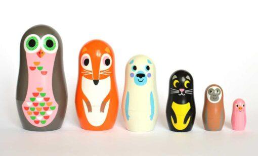 Set de Matryoshkas Ingela Arrhenius / OMM Design Animals 2