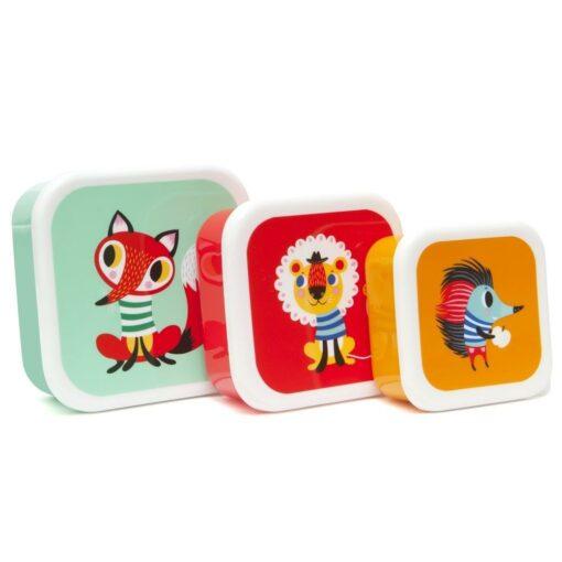 Boîtes à goûter Animaux Petit Monkey set de 3