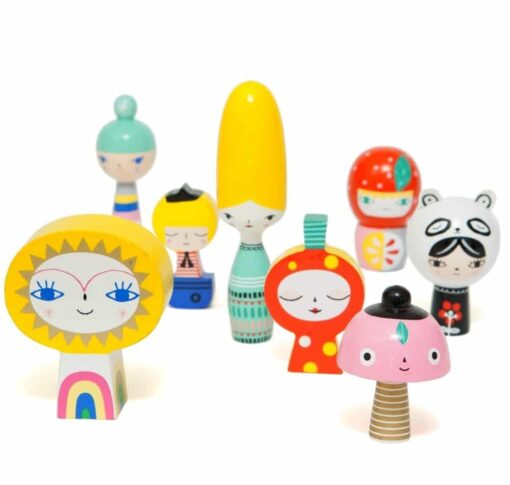 Figurines bois Mr Sun & Friends Petit Monkey