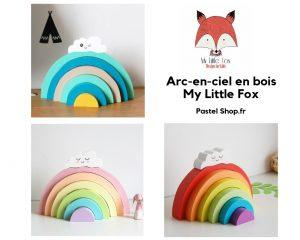 Arc-en-ciel en bois My Little Fox