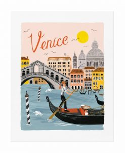 Affiche Venise Rifle Paper Co World Traveler
