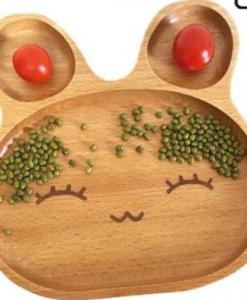 Assiette lapin en bois 2