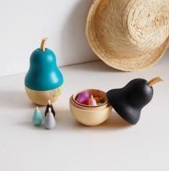 Boîte Poire et ses 10 minis My Little Fox Bleu canard