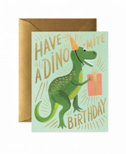Carte Rifle Paper Dino birthday