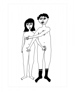 Affiche Couple nu de face Helen B Format au choix A3 / A4