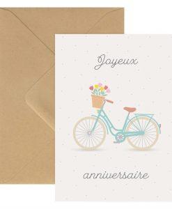 Carte double d'anniversaire vélo ZÜ